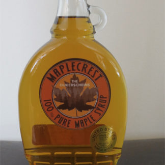 12 ounce Plastic Jar Grade A Golden Color Maple Syrup